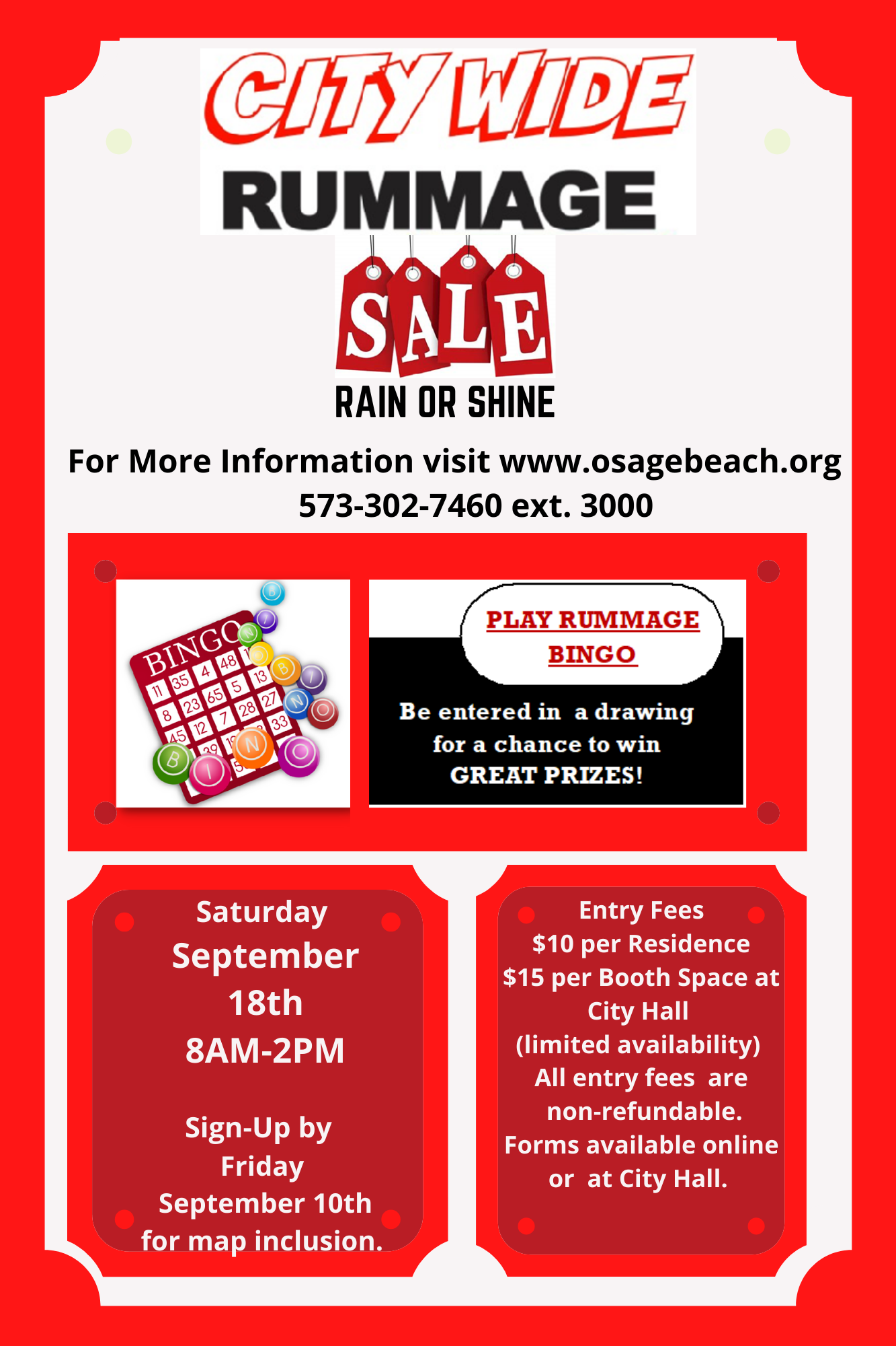 All Details of Citywide Rummage Sale