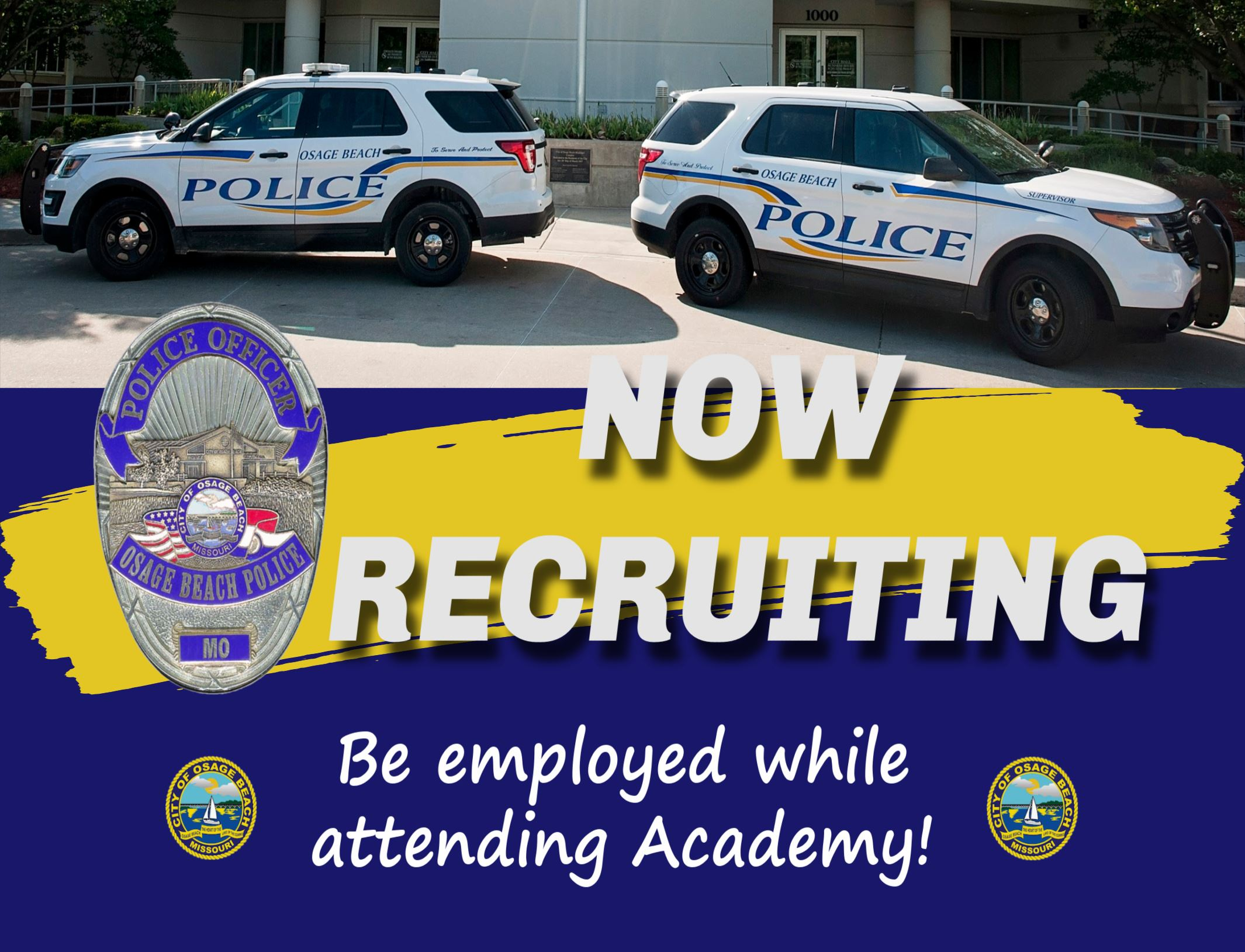 Now Recruiting for Police Department